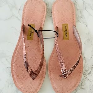 Metallic Blush Pink Sandals
